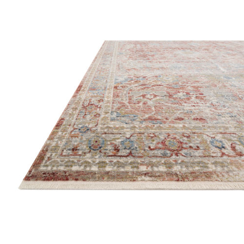 Claire Red and Ivory 9 Ft. 6 In. x 13 Ft. Power Loomed Rug