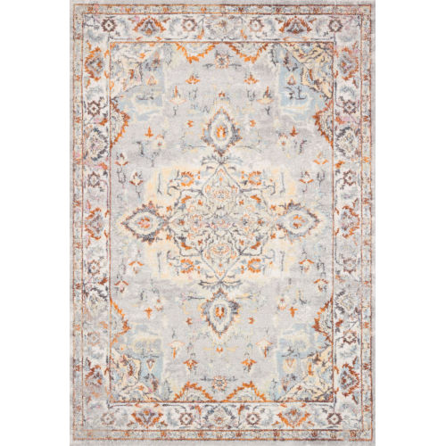 Clara Gray and Ivory 29 x 126-Inch Power Loomed Rug