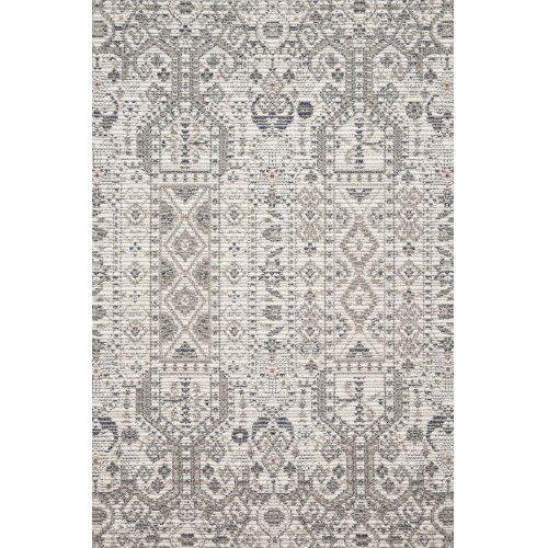 Cole Ivory and Multicolor Power Loomed Rug