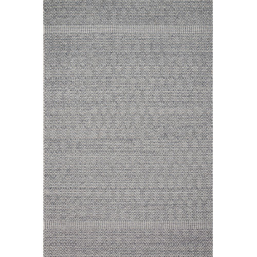 Cole Denim and Gray 2 Ft. 7 In. x 10 Ft. Power Loomed Rug