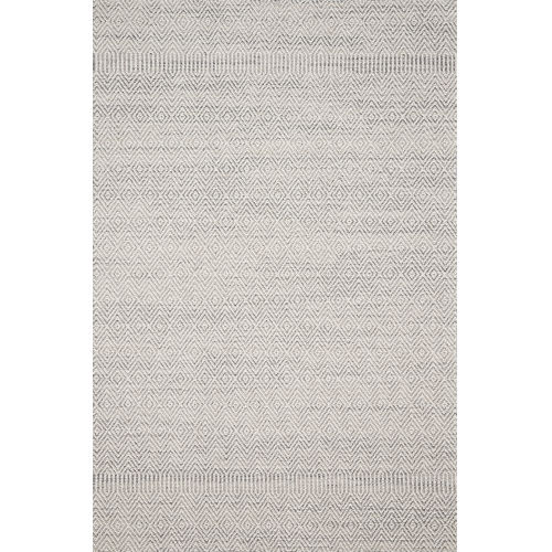 Cole Gray and Bone 2 Ft. 1 In. x 3 Ft. 4 In. Power Loomed Rug