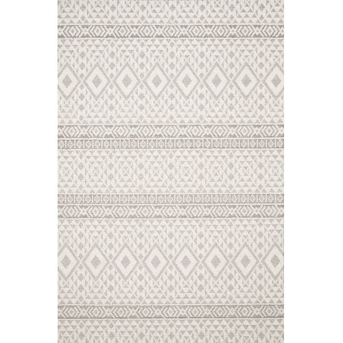 Cole Silver and Ivory 7 Ft. 10 In. x 10 Ft. 1 In. Power Loomed Rug