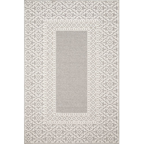Cole Gray and Ivory 2 Ft. 7 In. x 10 Ft. Power Loomed Rug