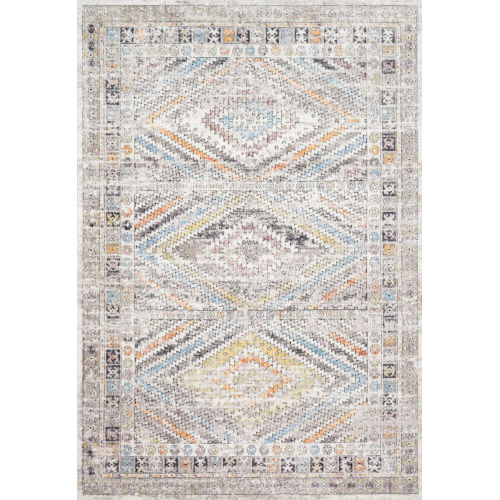 Dante Ivory and Multicolor 94 x 126-Inch Power Loomed Rug