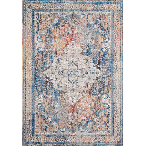 Dante Multicolor and Stone Power Loomed Rug