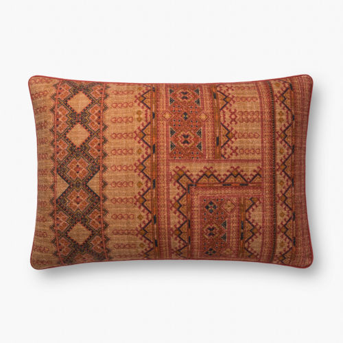 Rust 16 In. x 26 In. Throw Pillow Cover with Down