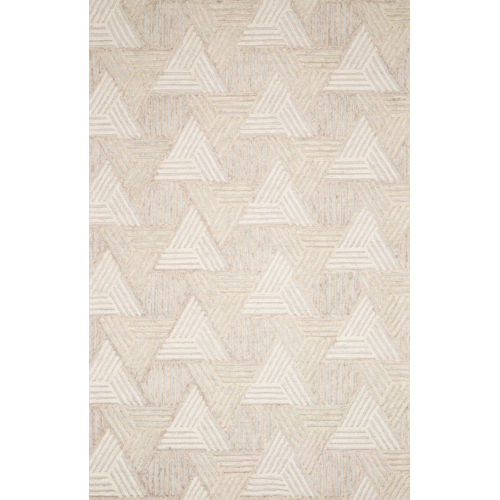 Ehren Oatmeal and Ivory Hand Tufted Rug