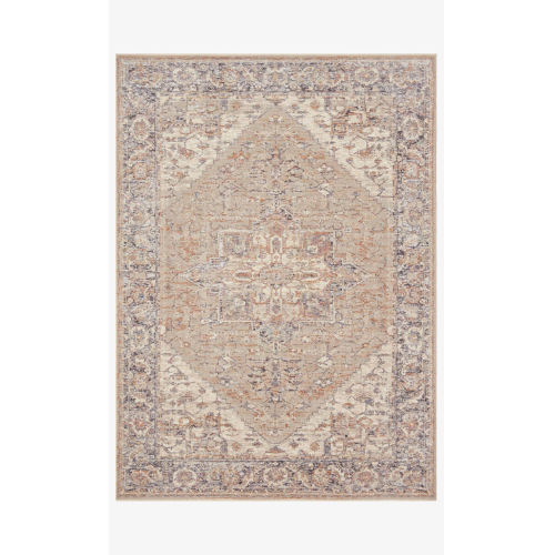 Faye Taupe and Denim Rectangle: 7 Ft. 10 In. x 10 Ft. Rug