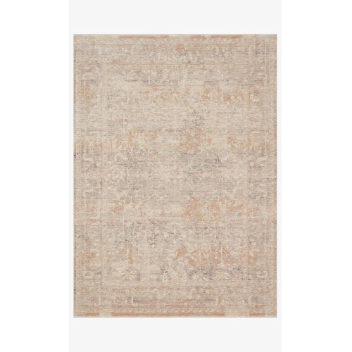 Faye Beige and Blue Runner: 2 Ft. 7 In. x 7 Ft. 9 In.