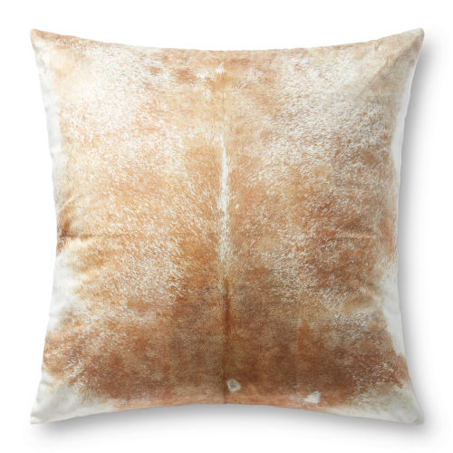 Beige and White 36-Inch x 36-Inch Floor Pillow