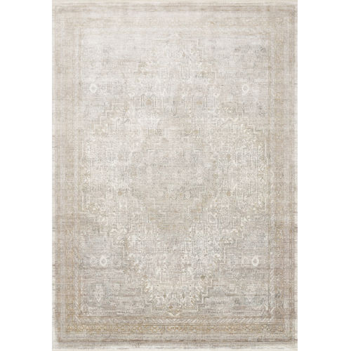 Gemma Sand and Ivory 7 Ft. 7 In. x 9 Ft. 10 In. Power Loomed Rug