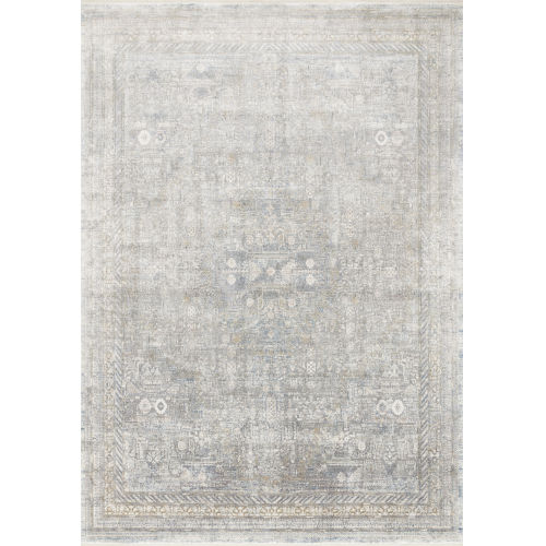 Gemma Silver and Multicolor 9 Ft. 6 In. x 12 Ft. 6 In. Power Loomed Rug