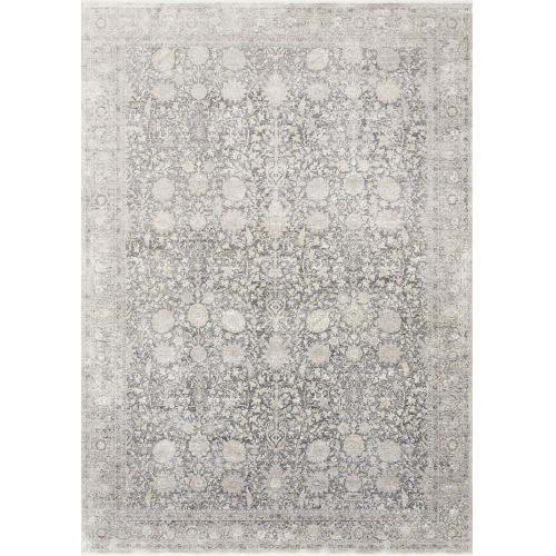 Gemma Charcoal and Sand 2 Ft. 8 In. x 12 Ft. Power Loomed Rug