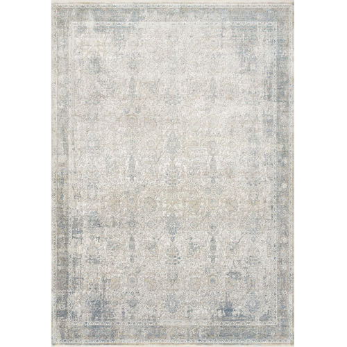 Gemma Sky and Ivory 5 Ft. x 7 Ft. 3 In. Power Loomed Rug
