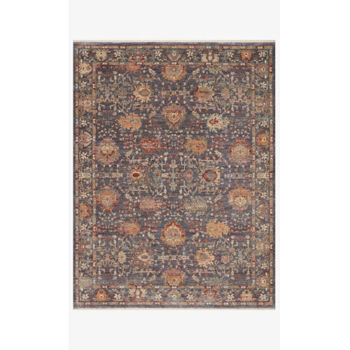 Giada Gray and Multicolor Round: 7 Ft. 9 In. x 7 Ft. 9 In.  Rug