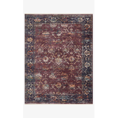 Giada Grape and Multicolor Rectangle: 6 Ft. 3 In. x 9 Ft. Rug