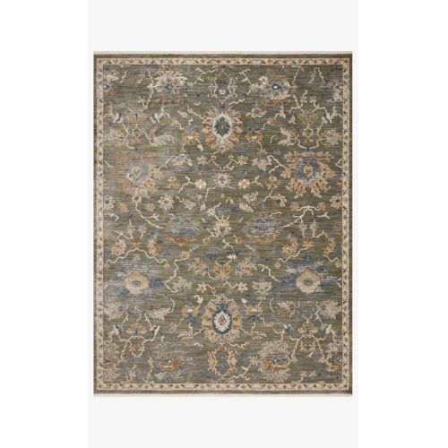 Giada Sage and Gold Round: 3 Ft. 2 In. x 3 Ft. 2 In.  Rug