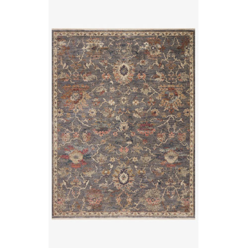 Giada Silver and Multicolor Round: 5 Ft. x 5 Ft.  Rug