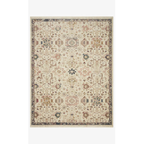 Giada Ivory and Multicolor Rectangle: 9 Ft. x 12 Ft. Rug