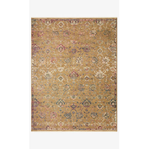 Giada Gold and Multicolor Round: 7 Ft. 9 In. x 7 Ft. 9 In.  Rug