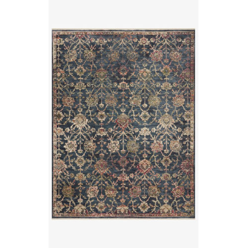 Giada Navy and Multicolor Round: 7 Ft. 9 In. x 7 Ft. 9 In.  Rug