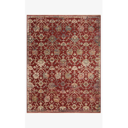 Giada Red and Multicolor Runner: 2 Ft. 7 In. x 12 Ft.