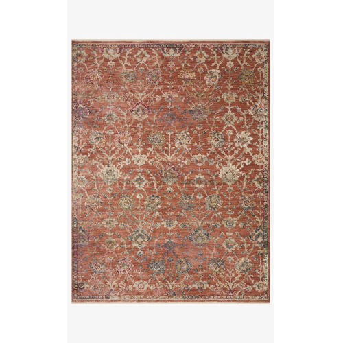 Giada Terracotta and Multicolor Rectangle: 2 Ft. 7 In. x 4 Ft. Rug