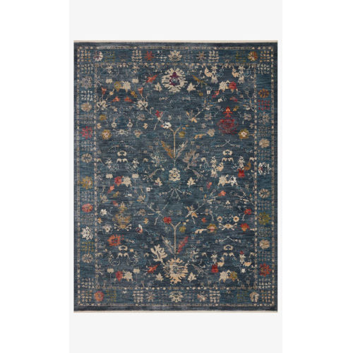 Giada Denim and Multicolor Rectangle: 5 Ft. x 7 Ft. 10 In. Rug