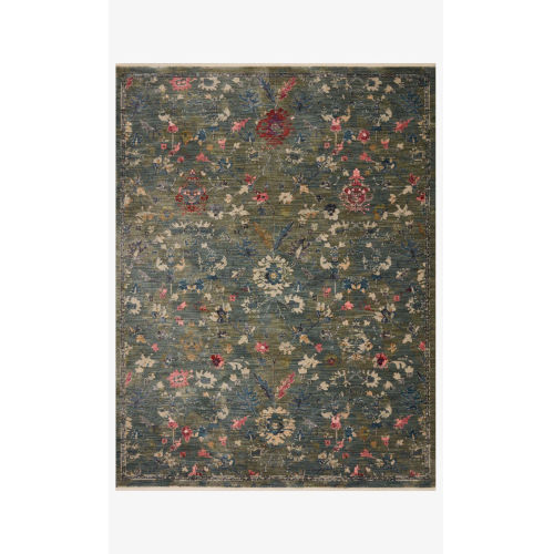 Giada Lagoon and Multicolor Round: 5 Ft. x 5 Ft.  Rug