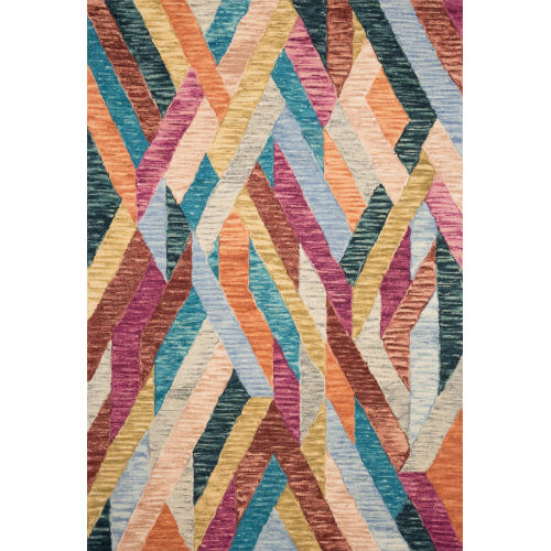 Justina Blakeney Fiesta and Multicolor 18 x 18-Inch Hooked Rug