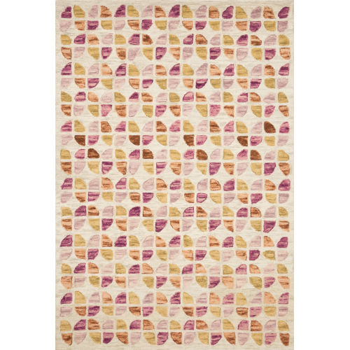 Justina Blakeney Ivory and Sunset 30 x 90-Inch Hooked Rug