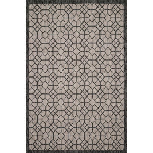 Isle Charcoal Grey Rectangle: 7 Ft. 1 x 10 Ft. 9 In. Rug