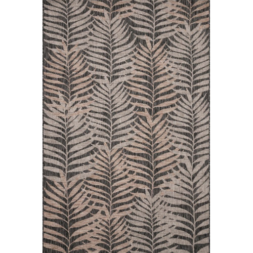 Isle Natural Black Rectangle: 5 Ft. 3 In. x 7 Ft. 7 In. Rug