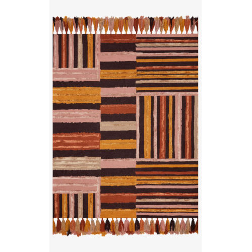 Justina Blakeney Jamila Spice and Bordeaux Rectangle: 8 Ft. 6 In. x 12 Ft. Rug