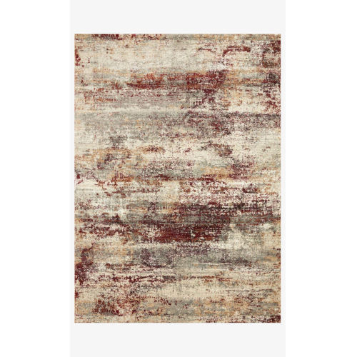 Jasmine Dove and Rust Rectangle: 3 Ft. 7 In. x 5 Ft. 7 In. Rug