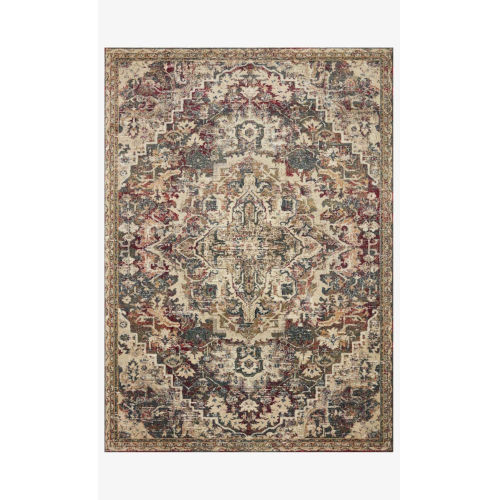 Jasmine Ocean and Multicolor Rectangle: 7 Ft. 10 In. x 10 Ft. 10 In. Rug