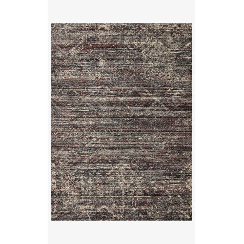 Jasmine Midnight and Bordeaux 18 In. x 18 In. Rug - Sample Swatch Only