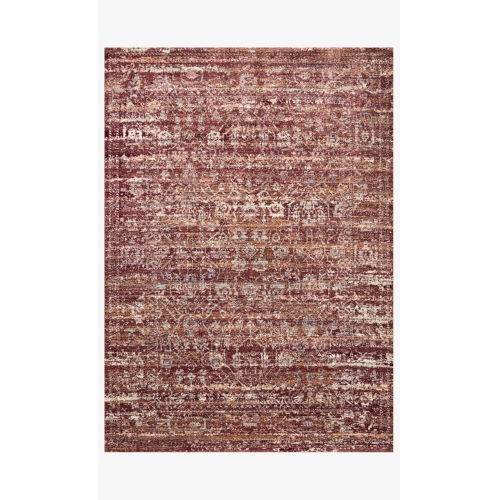 Jasmine Sky and Bordeaux Rectangle: 2 Ft. 7 In. x 4 Ft. Rug