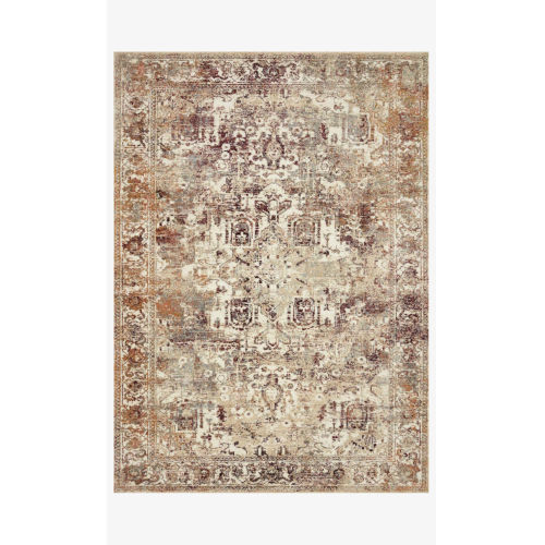 Jasmine Ivory and Multicolor Rectangle: 2 Ft. 7 In. x 4 Ft. Rug