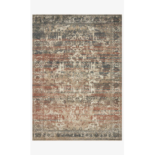 Jasmine Natural and Multicolor Rectangle: 5 Ft. 3 In. x 7 Ft. 8 In. Rug