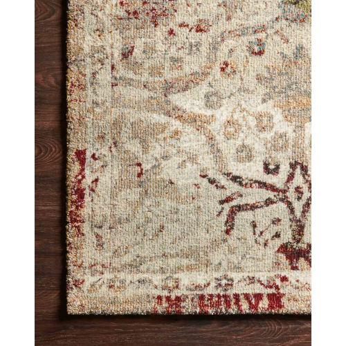 Jasmine Silver and Multicolor 18 In. x 18 In. Rug - Sample Swatch Only