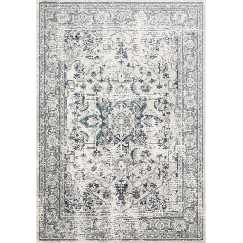 Joaquin Light Green and Blue 9 Ft. 6 In. x 13 Ft. Power Loomed Rug