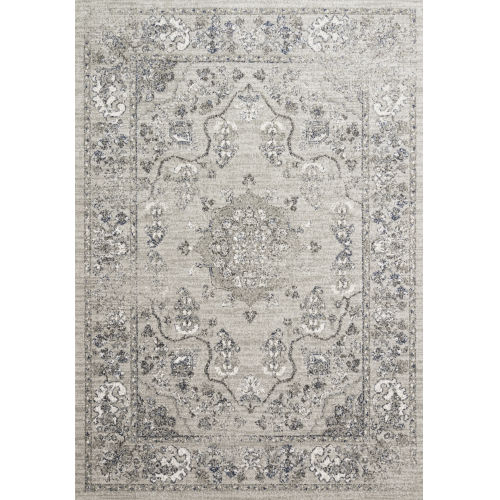 Joaquin Dove and Gray 2 Ft. 7 In. x 10 Ft. Power Loomed Rug