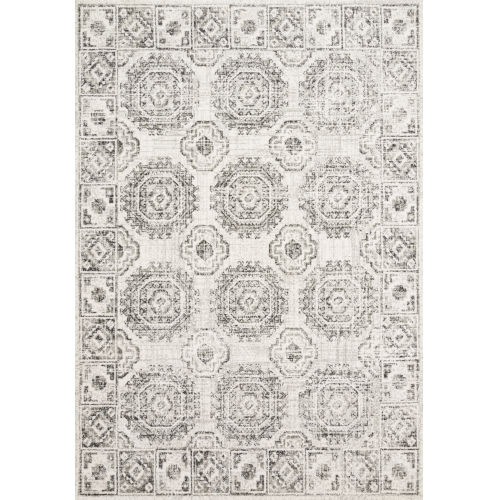 Joaquin Ivory and Charcoal Power Loomed Rug