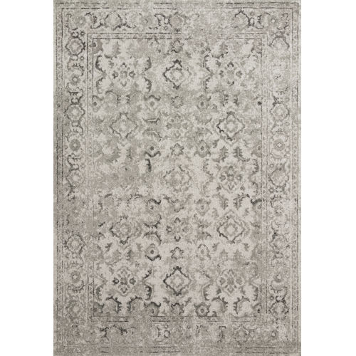 Joaquin Silver and Gray Power Loomed Rug