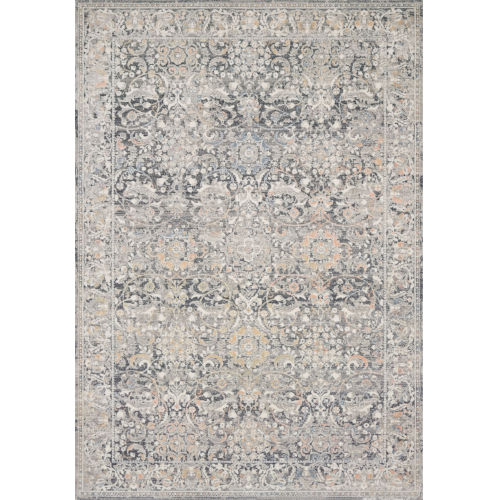 Lucia Gray and Mist 93 x 126-Inch Power Loomed Rug