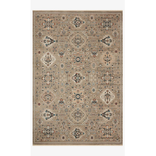 Leigh Dove and Multicolor Rectangle: 7 Ft. 10 In. x 10 Ft. 10 In. Rug