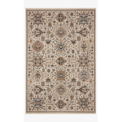 Leigh Ivory and Taupe Rectangle: 6 Ft. 7 In. x 9 Ft. 6 In. Rug