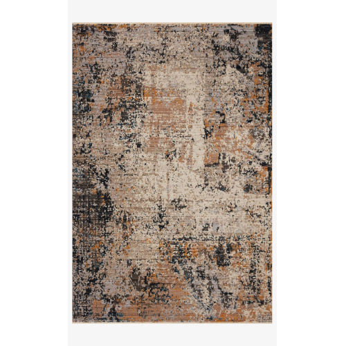 Leigh Silver and Multicolor Rectangle: 6 Ft. 7 In. x 9 Ft. 6 In. Rug