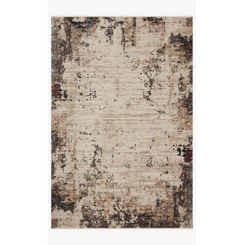 Leigh Ivory and Charcoal Rectangle: 6 Ft. 7 In. x 9 Ft. 6 In. Rug